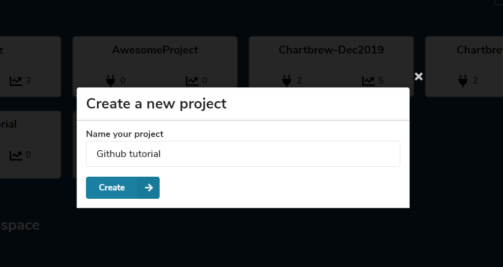 New Chartbrew project
