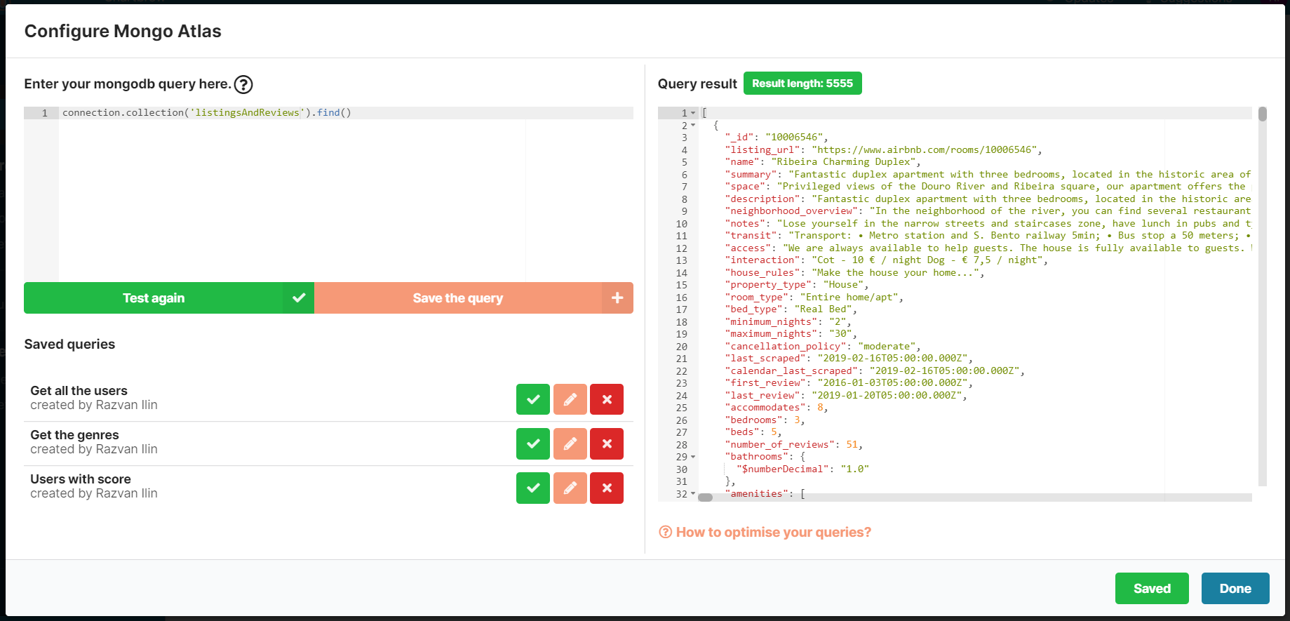 Query and visualize your MongoDB data