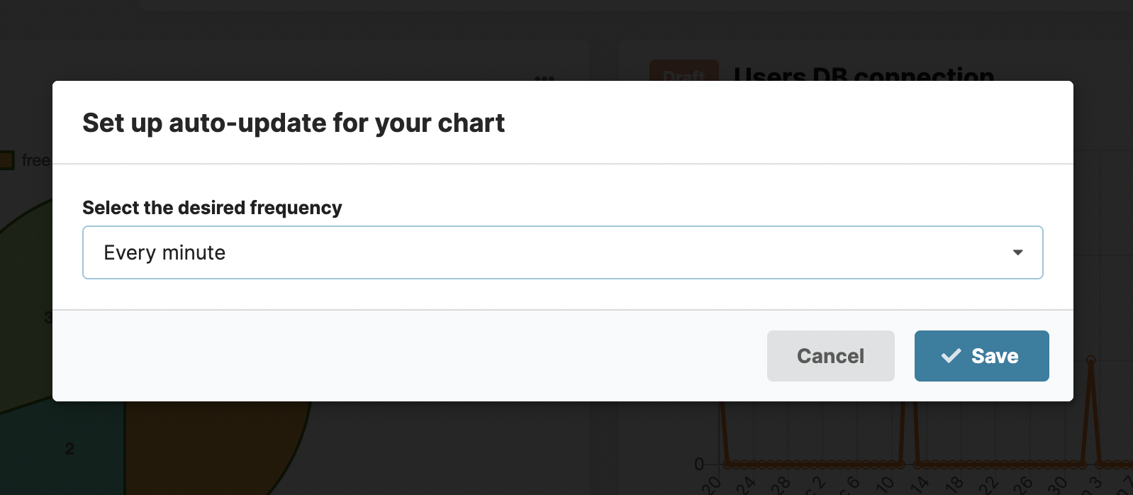 Auto-update frequency for the charts in Chartbrew